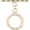 Gold-filled 14kt Toggle Round Rope Wrap 14mm